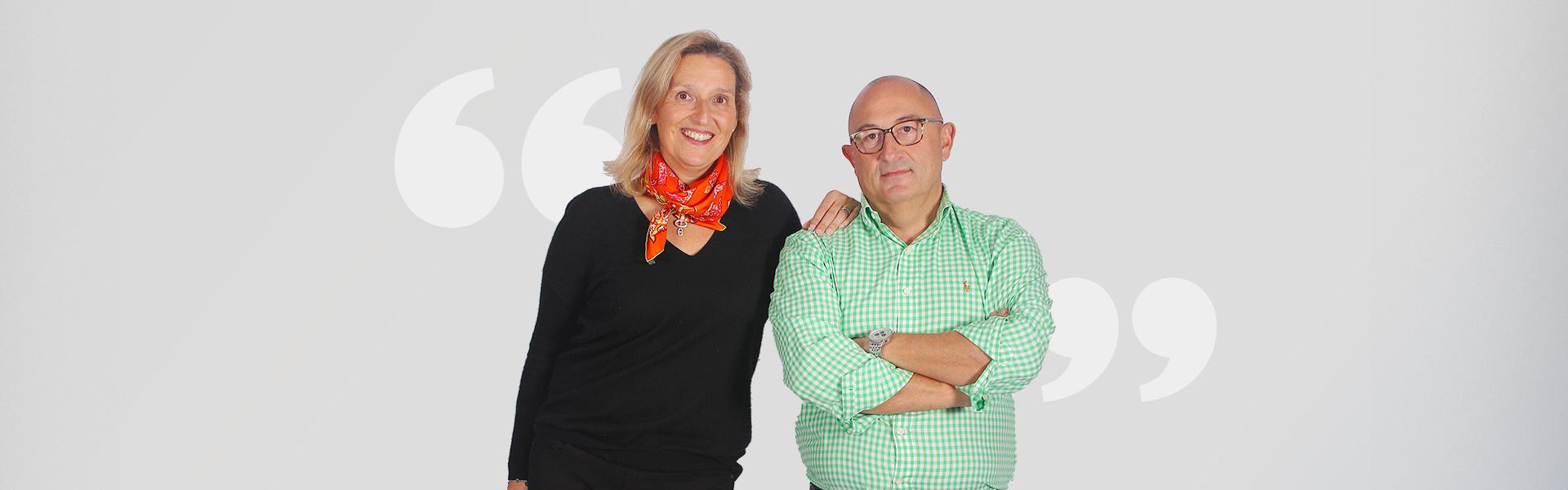 Margo et Bruno concessionnaires Aquilus Piscines et Spas