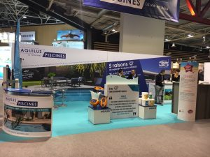 Stand Aquilus salon Piscine Global 2016