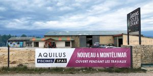 Aquilus Montélimar ouvert pendant les travaux