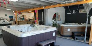 showroom Aquilus Spas Digne-les-Bain, zone de test hydrotherapie