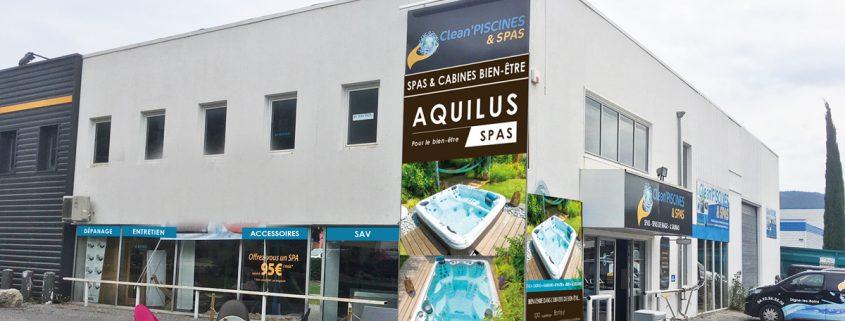 Showroom Aquilus Spas Digne-les-Bain vue de l'exterieur