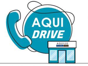 Service AquiDrive pour le retrait de commandes pendant lépidémie Covid19