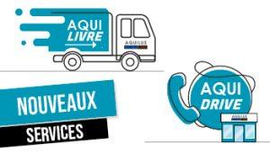 Nouveaux services Aquilus pour la livraison et/ou le retrait de commandes