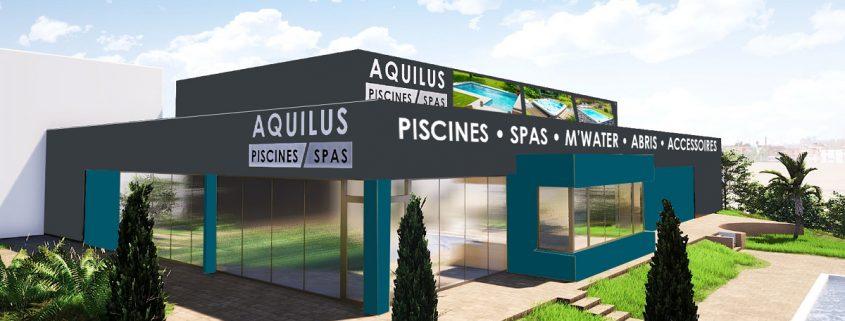 Rénovation de devanture pour Aquilus Valence