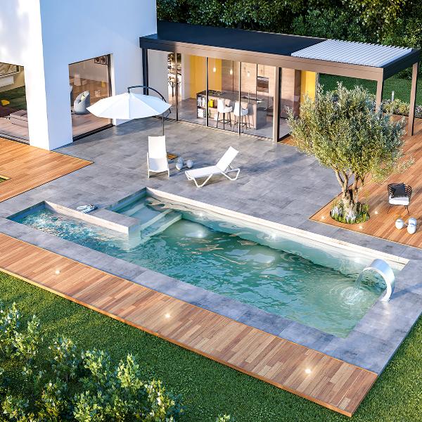 Nouveau concept piscine Aquilus Désirade