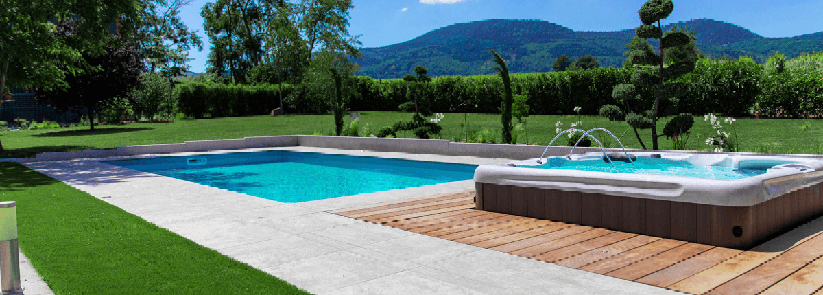 réalisation piscine et spa de paysagiste Aquilus